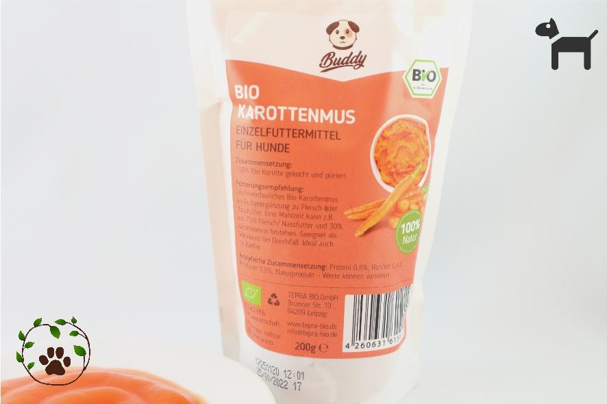 Bio Karottenmus für Hunde