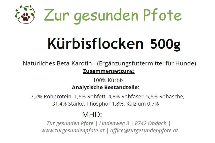 Kürbis Flocke - mit viel natürlichem Beta Karotin