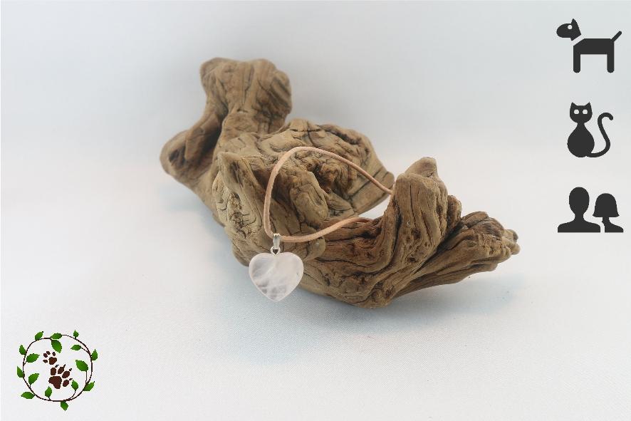 Rosenquarz Herzanhänger für Halsbänder und Kettchen