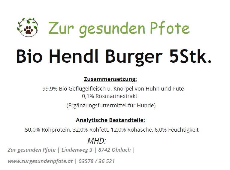 Bio Hendl Burger - Der coole Kauspaß