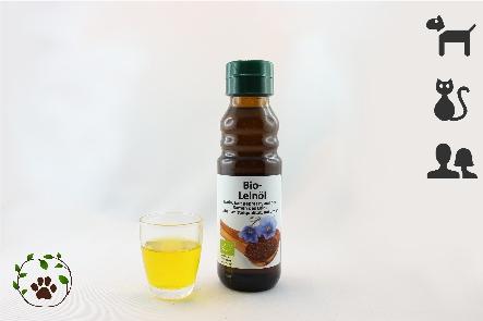 Bio Leinöl in Lebensmittelqualität für ein glänzendes Fell